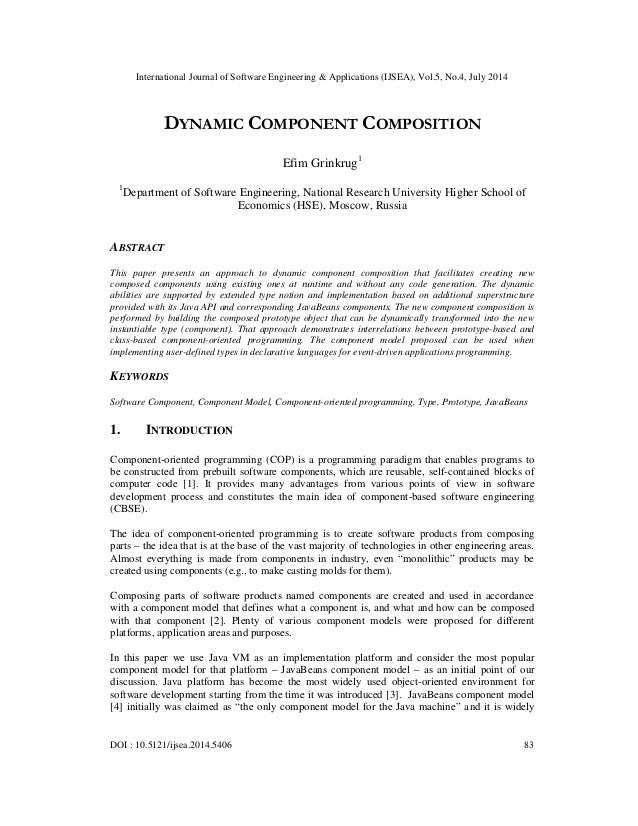 International Journal of Software Engineering & Applications (IJSEA), Vol.5, No.4, July 2014 DOI : 10.5121/ijsea.2014.5406...