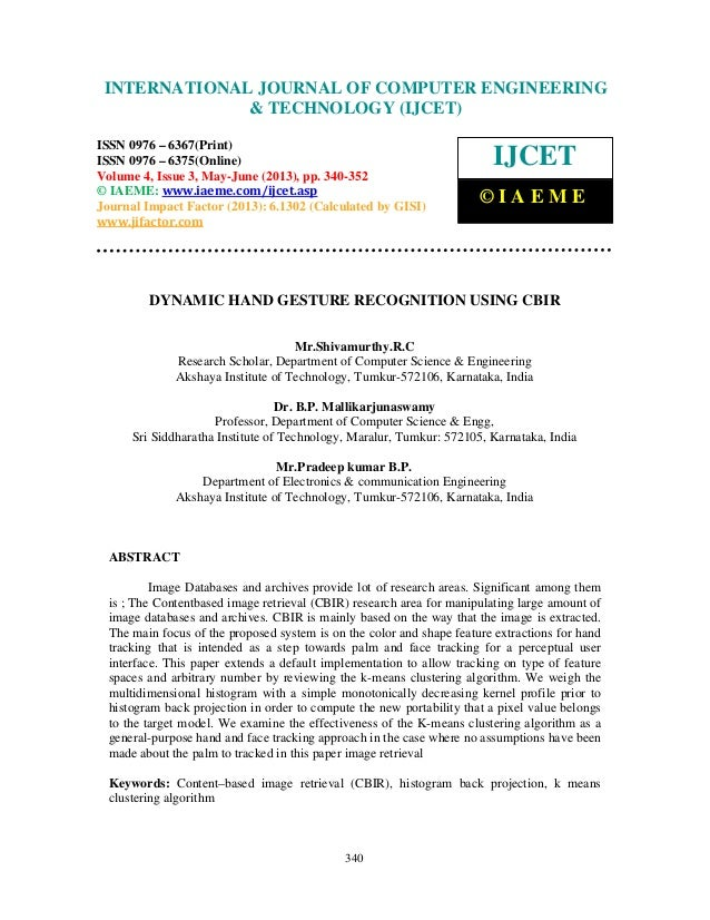 International Journal of Computer Engineering and Technology (IJCET), ISSN 0976- 6367(Print), ISSN 0976 – 6375(Online) Vol...