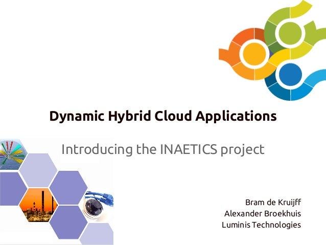 Dynamic Hybrid Cloud Applications Introducing the INAETICS project  Bram de Kruijff Alexander Broekhuis Luminis Technologi...