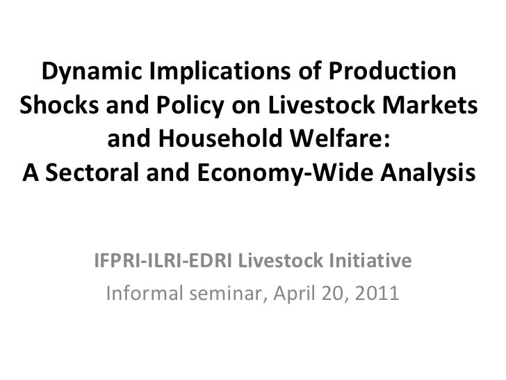 Dynamic Implications of Production Shocks and Policy on Livestock Markets and Household Welfare: A Sectoral and Economy-Wi...