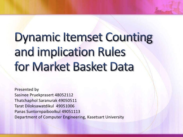 Dynamic Itemset Counting