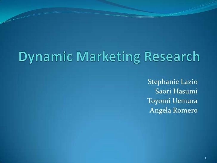 Dynamic marketing research