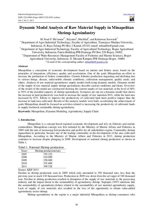 Industrial Engineering Letters ISSN 2224-6096 (Paper) ISSN 2225-0581 (online) Vol.3, No.11, 2013  www.iiste.org  Dynamic M...