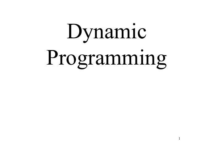 Dynamic programming 2