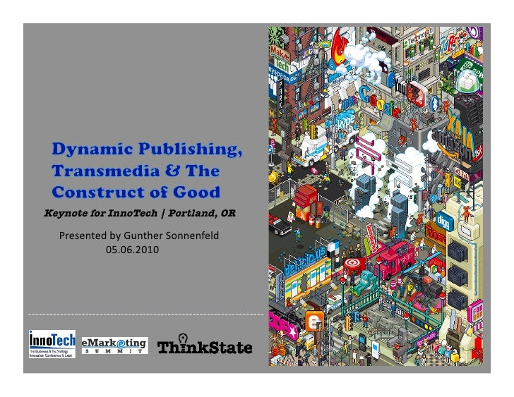 Keynote for InnoTech | Portland, OR                             Presented  by  Gunther  Sonnenfeld                ...