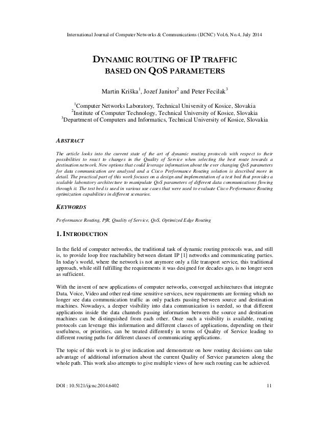 International Journal of Computer Networks & Communications (IJCNC) Vol.6, No.4, July 2014 DOI : 10.5121/ijcnc.2014.6402 1...