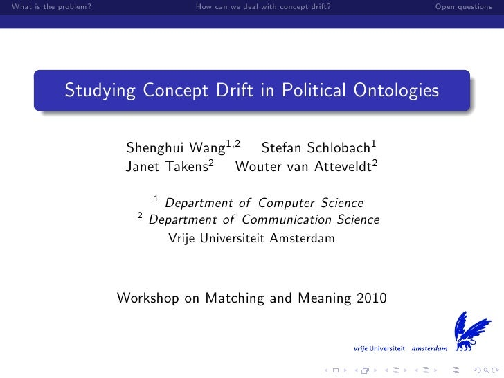 Study concept drift in political ontologies