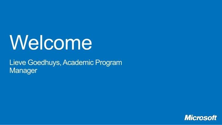 Microsoft Dynamics Academic Alliance: Introduction