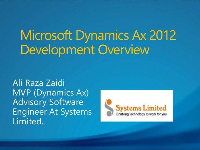 Dynamics ax 2012 development overview