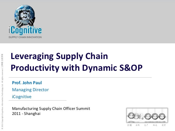 Leveraging Supply Chain Productivity with Dynamic S&OP<br />Prof. John Paul<br />Managing Director<br />iCognitive<br />Ma...