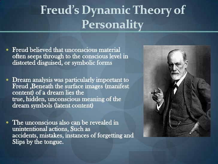 psychology freuds theory on dreams Sigmund freud considered the father of psychoanalysis, sigmund freud (1856-1939) revolutionizes the study of dreams with his work the interpretation of dreams freud begins to analyze dreams in order to understand aspects of personality as they relate to pathology.