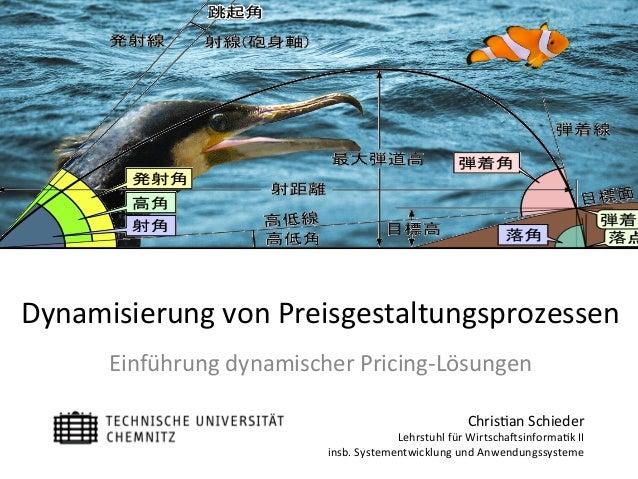 Chris&anSchieder LehrstuhlfürWirtscha5sinforma&kII insb.SystementwicklungundAnwendungssysteme Dynamisierungvon...