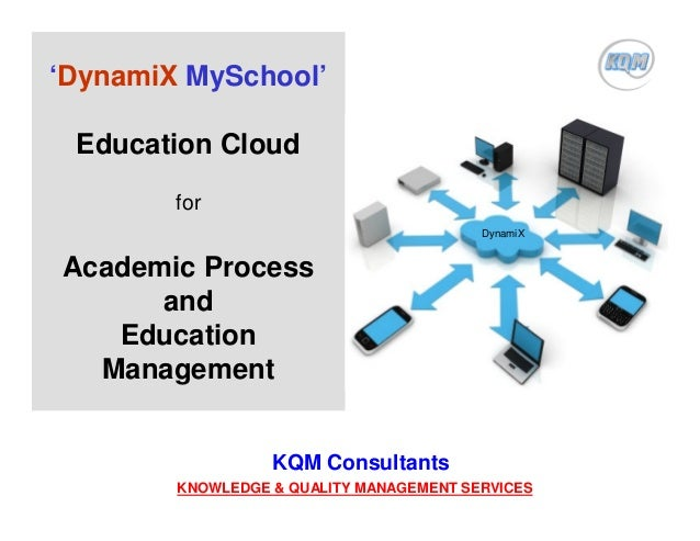 'DynamiX MySchool' Education Cloud for Academic Process and Education Management KQM Consultants KNOWLEDGE & QUALITY MANAG...