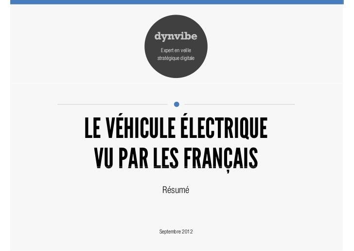 Perception du véhicule électrique par les français - Résumé