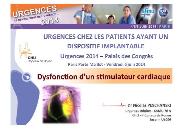 CHU_ Hôpitaux de Rouen - page 1 URGENCES  CHEZ  LES  PATIENTS  AYANT  UN   DISPOSITIF  IMPLANTABLE     U...