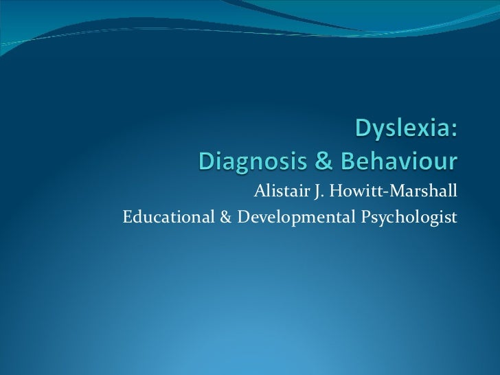 Alistair J. Howitt-Marshall Educational & Developmental Psychologist