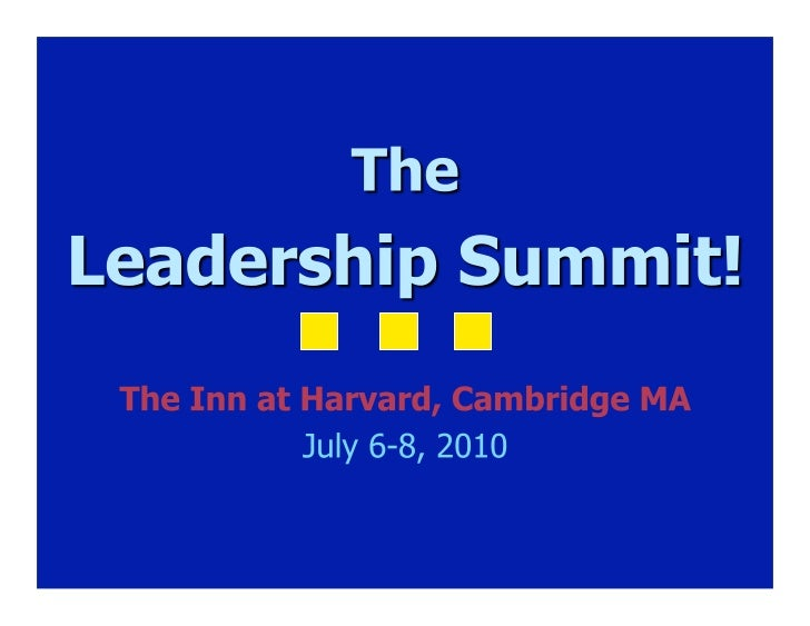 Dyslexia Leadership Summit 2010 Overview 3