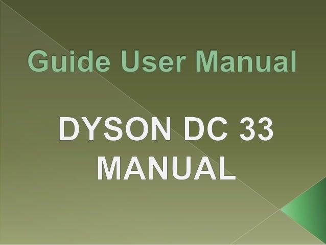 dyson am09 user manual pdf