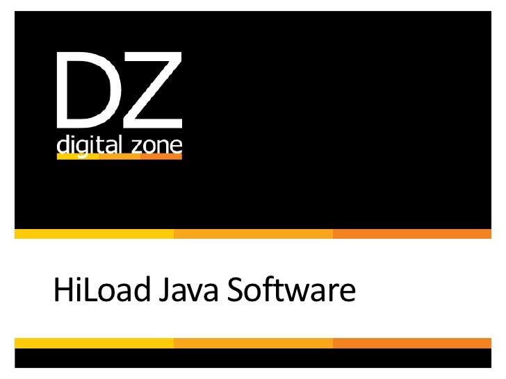 HiLoad Java Software<br />