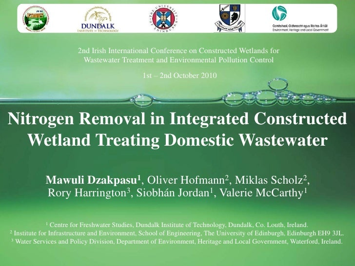 2nd Irish International Conference on Constructed Wetlands for                         Wastewater Treatment and Environmen...
