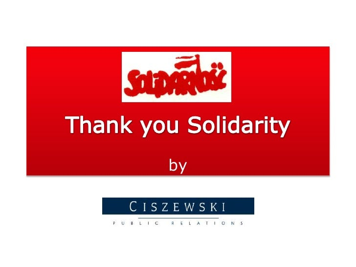 Thank you Solidarity<br />by<br />