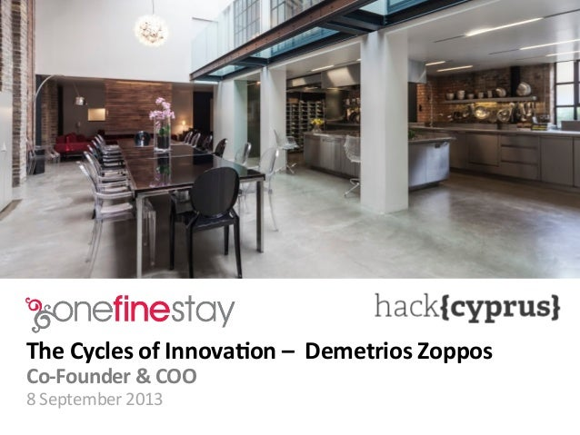 Demetrios Zoppos - OneFineStay - Presentation at Hack Cyprus 2013 Insights Conference
