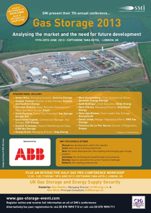 Gas Storage 2013                                     Analysing the market and the need for future development             ...