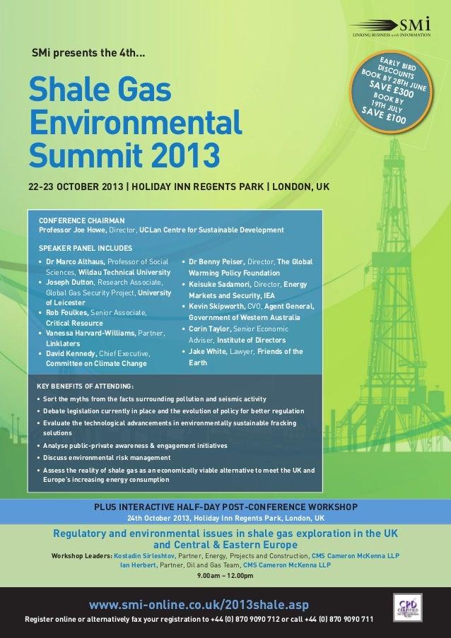 SMi Group's 4th annual Shale Gas Environmental Summit