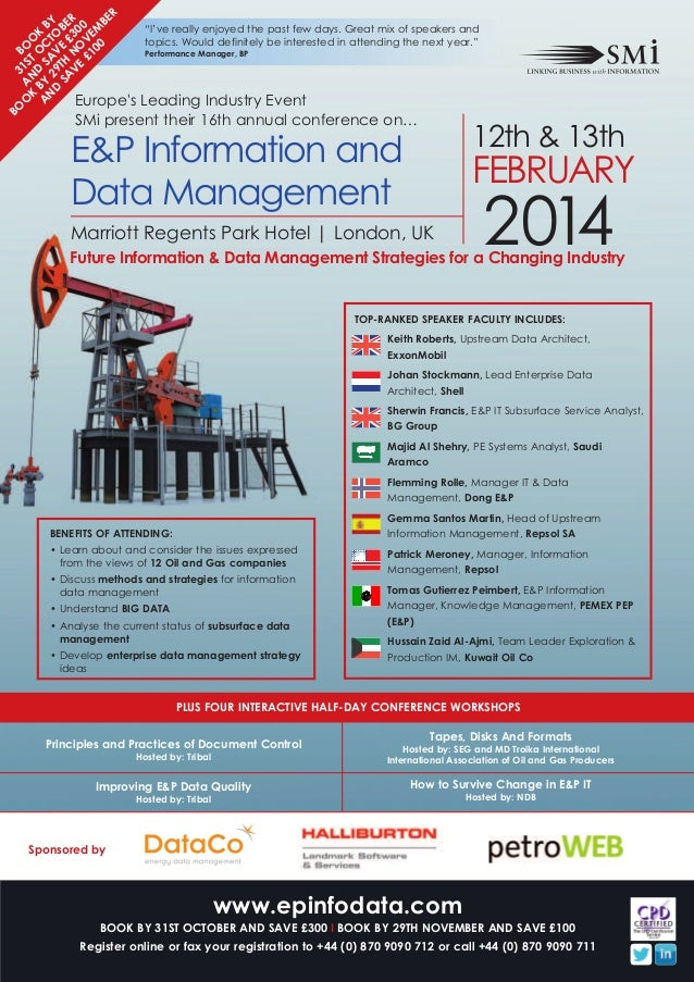 SMi Group's 16th annual E&P Information & Data Management conference & exhibition