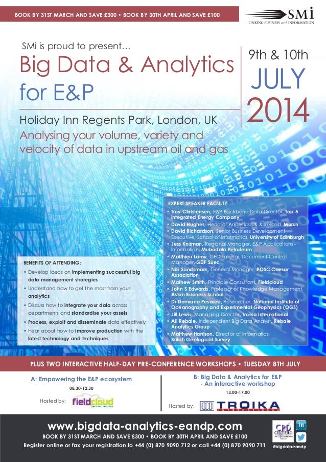 Big Data & Analytics for E&P conference