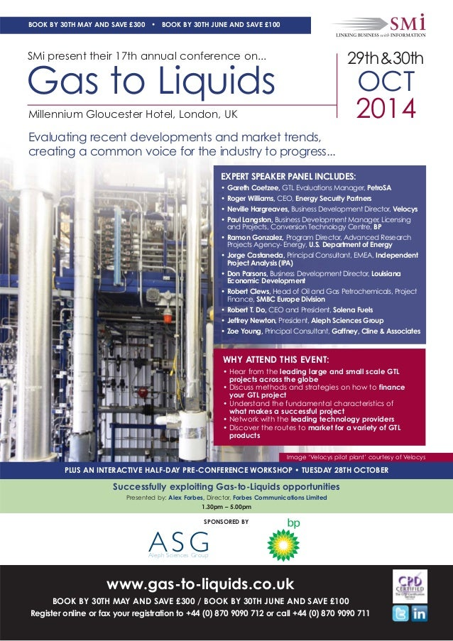 SMi Group's 17th annual Gas to Liquids conference & exhibition