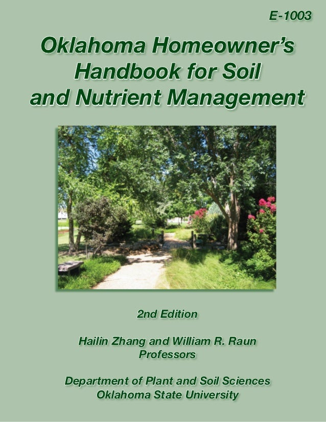 Oklahoma Homeowner's Handbook for Soil and Nutrient Management