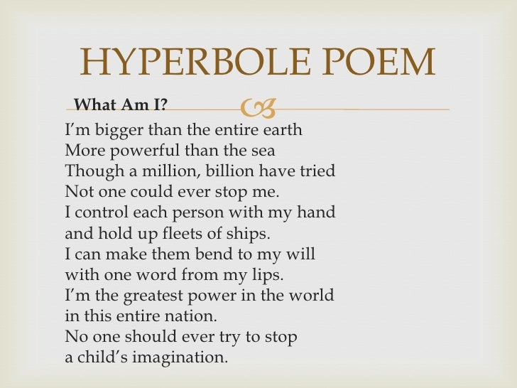 Hyperbole Poems For Pinterest