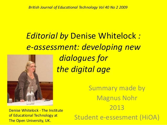 E assessment- developing new dialogues for the digital age