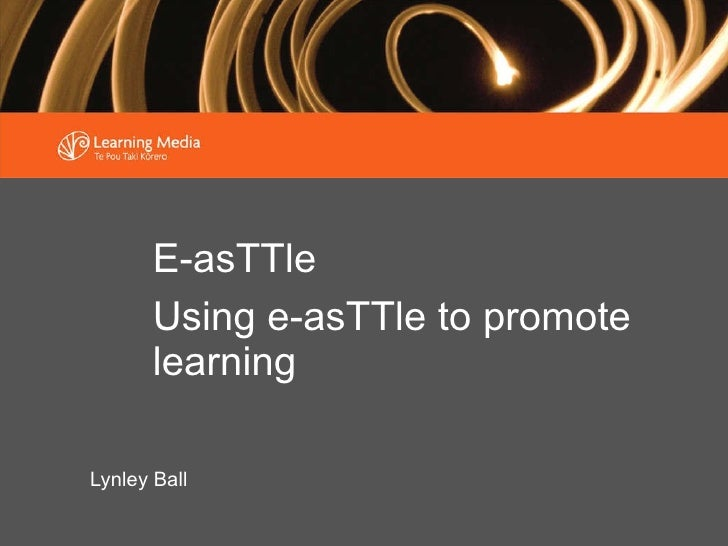Lynley Ball E-asTTle Using e-asTTle to promote learning