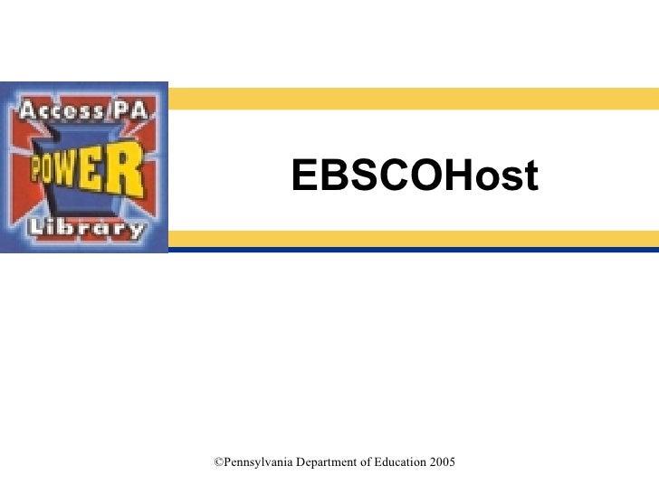E B S C O Host