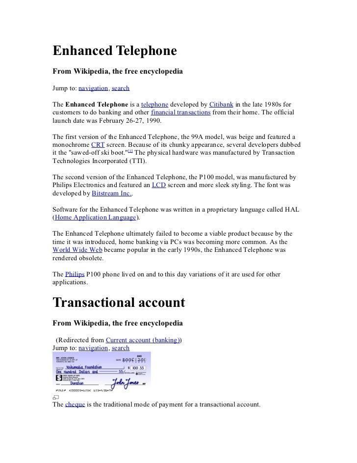 Enhanced TelephoneFrom Wikipedia, the free encyclopediaJump to: navigation, searchThe Enhanced Telephone is a telephone de...