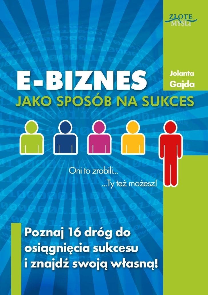 E-biznes jako sposob na-sukces