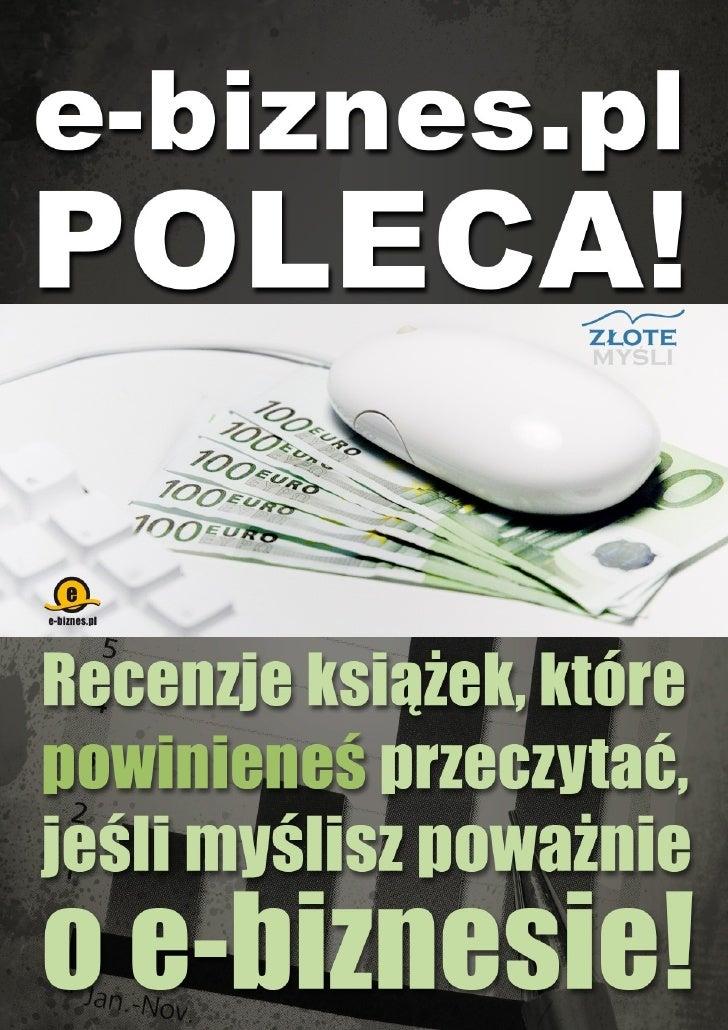 E Biznes Poleca   Recenzje Ksiazek E Biznesowych pobierz darmowy ebook pdf