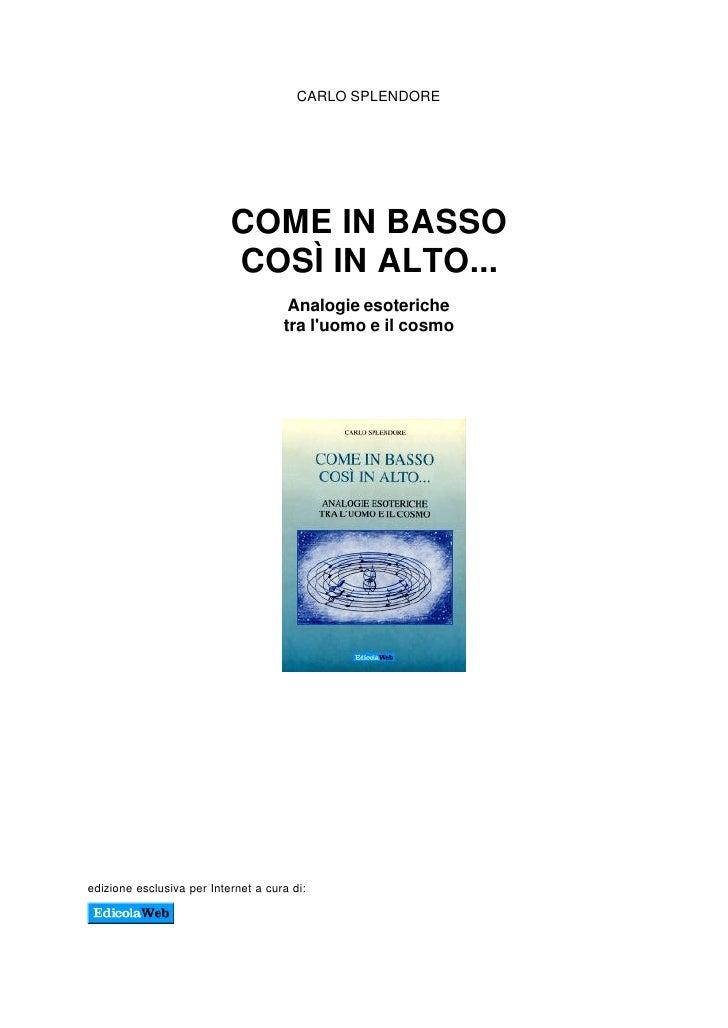 [E Book] Ita Come In Alto Cosi In Basso