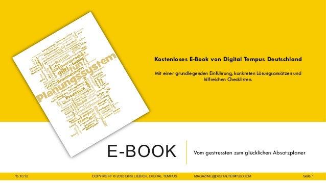 Kostenloses E-Book von Digital Tempus Deutschland                                            Mit einer grundlegenden Einfü...
