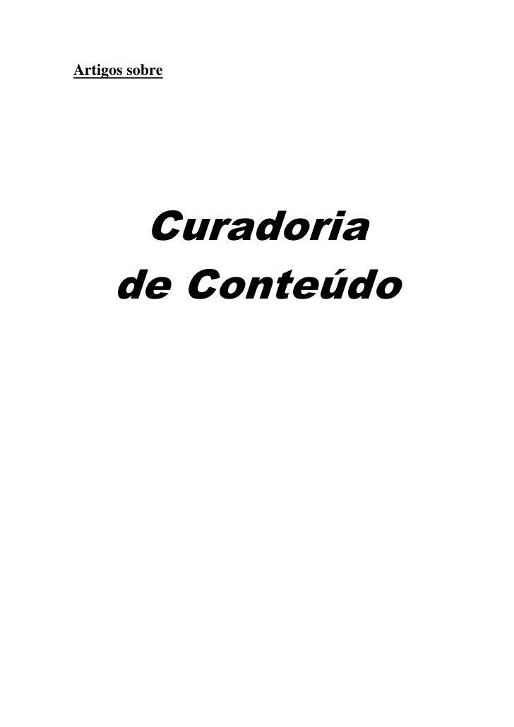 Curadoria de Conteúdo - Alguns artigos