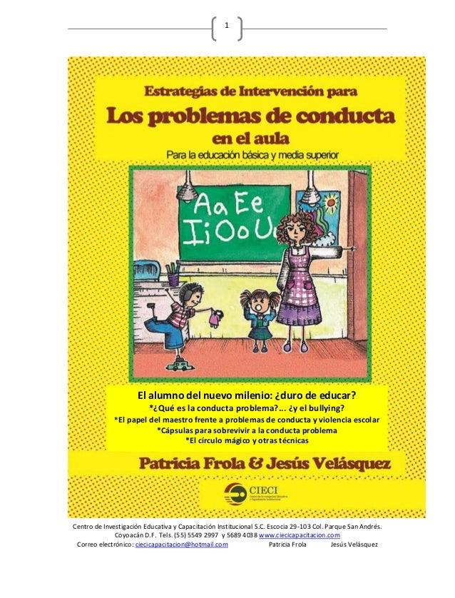 E book los problemas de conducta en el aula