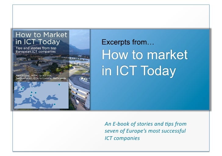 ICT Marketing Tips E Book Presentation