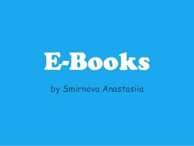 E-Booksby Smirnova Anastasiia