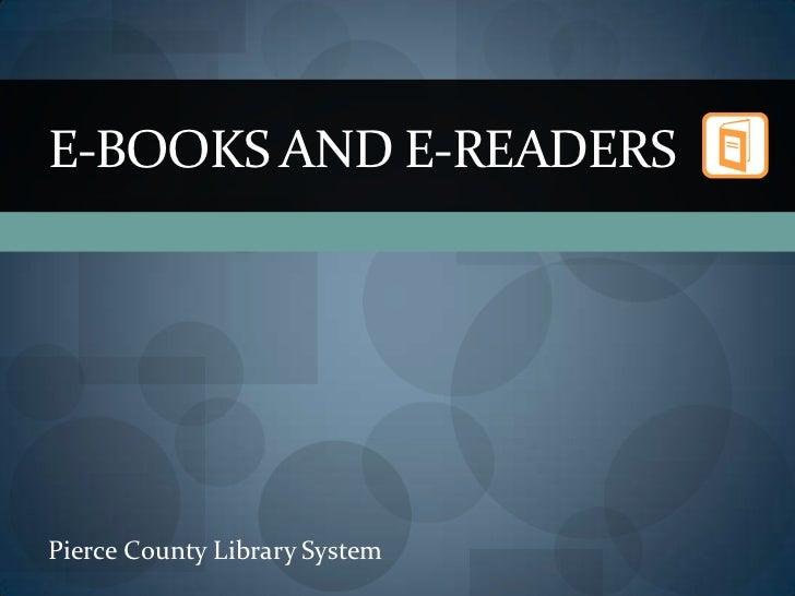 E books and e-readers