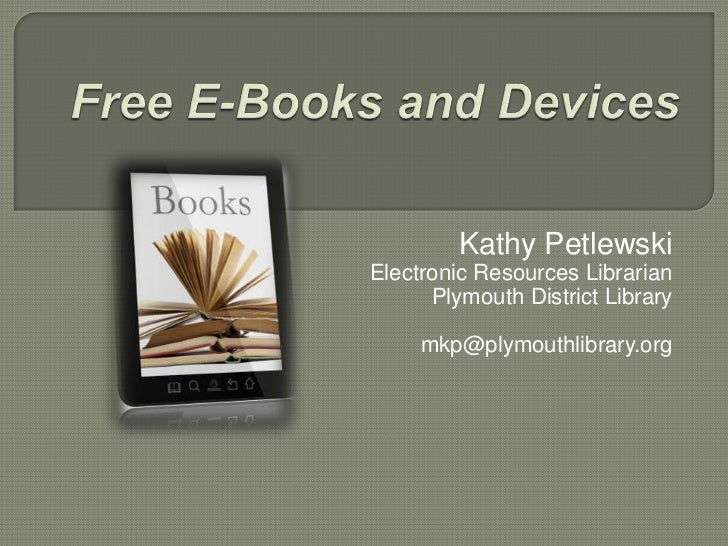 E books & devices useful in an academic setting