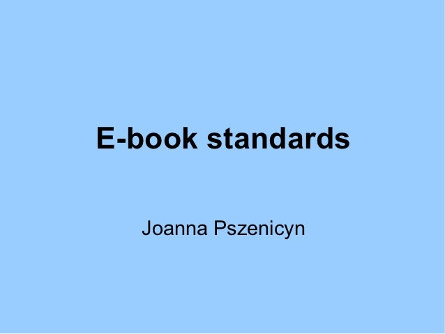 E book standards