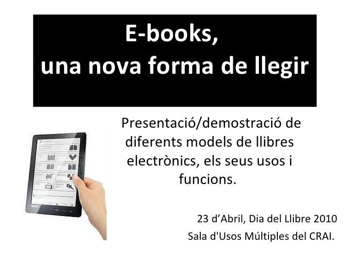 E-books, una nova forma de llegir