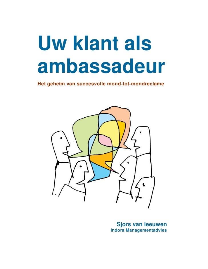 E-book Uw klant als ambassadeur (CRM, Word Of Mouth)